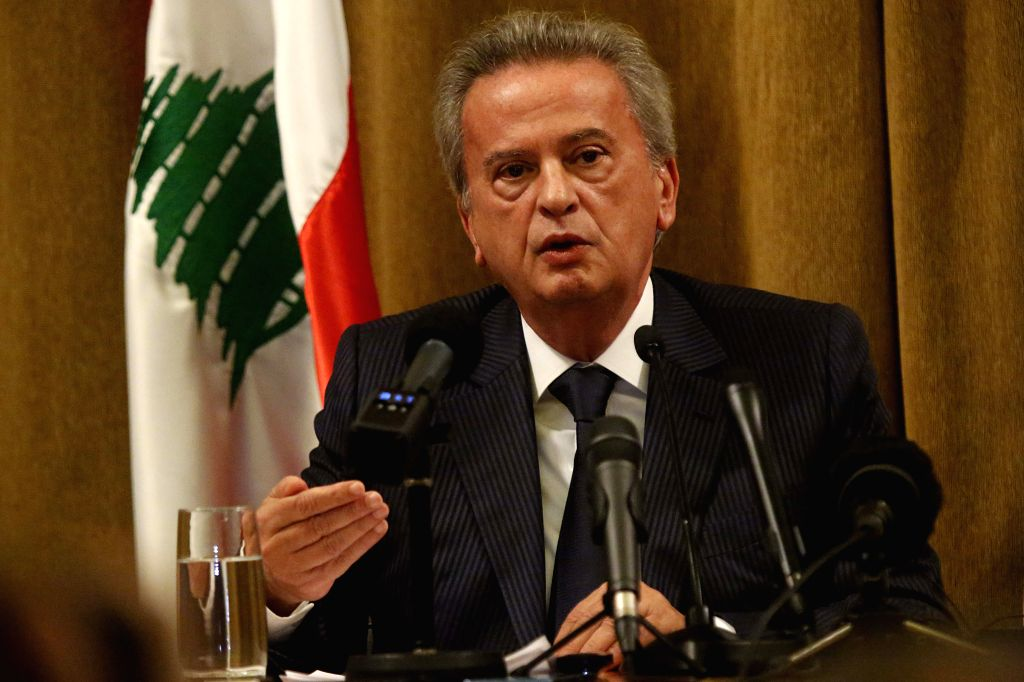 BEIRUT, Nov. 11, 2019 - Lebanon's Central Bank Governor Riad Salameh attends a press conference in Beirut, Lebanon, on Nov. 11, 2019. Central Bank Governor Riad Salameh assured on Monday that ...
