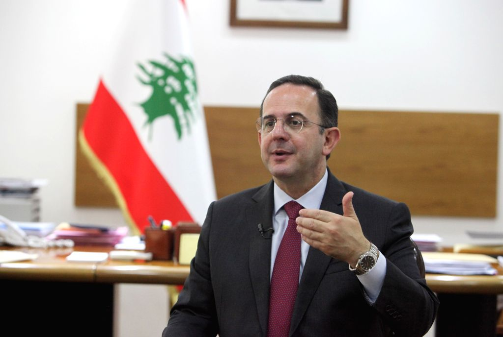 BEIRUT, Sept. 11, 2019 - Lebanese Tourism Minister Avedis Guidanian speaks during an interview at his office in Beirut, Lebanon, on Sept. 11, 2019. Avedis Guidanian said on Wednesday that Lebanon is ... - Avedis Guidanian