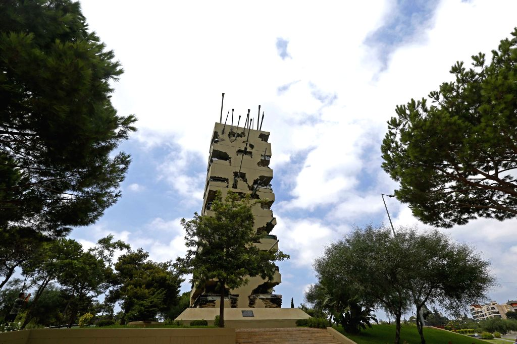 BEIRUT, Sept. 13, 2019 - Photo taken on Sept. 13, 2019 shows the Hope for Peace Monument in Yarzeh, Lebanon. The Hope for Peace Monument, designed by French-born American artist Armand Fernandez, was ... - Armand Fernandez