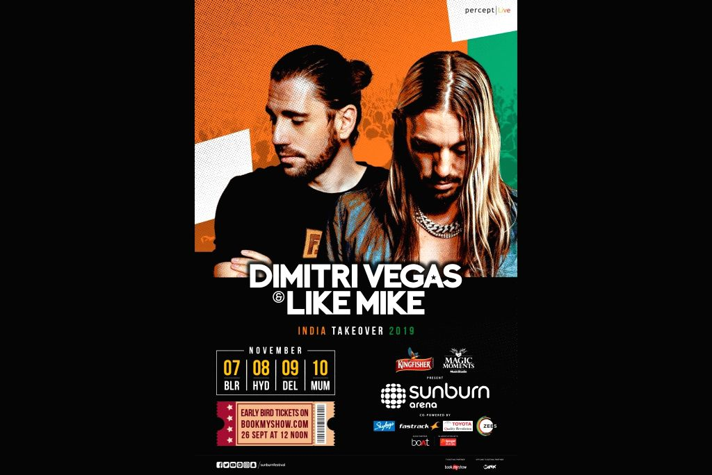 Belgium's DJ duo Dimitri Vegas and Like Mike will perform in multiple cities of India in November. They will hit the stage in Bengaluru on November 7, then Hyderabad on November 8, followed by New ...