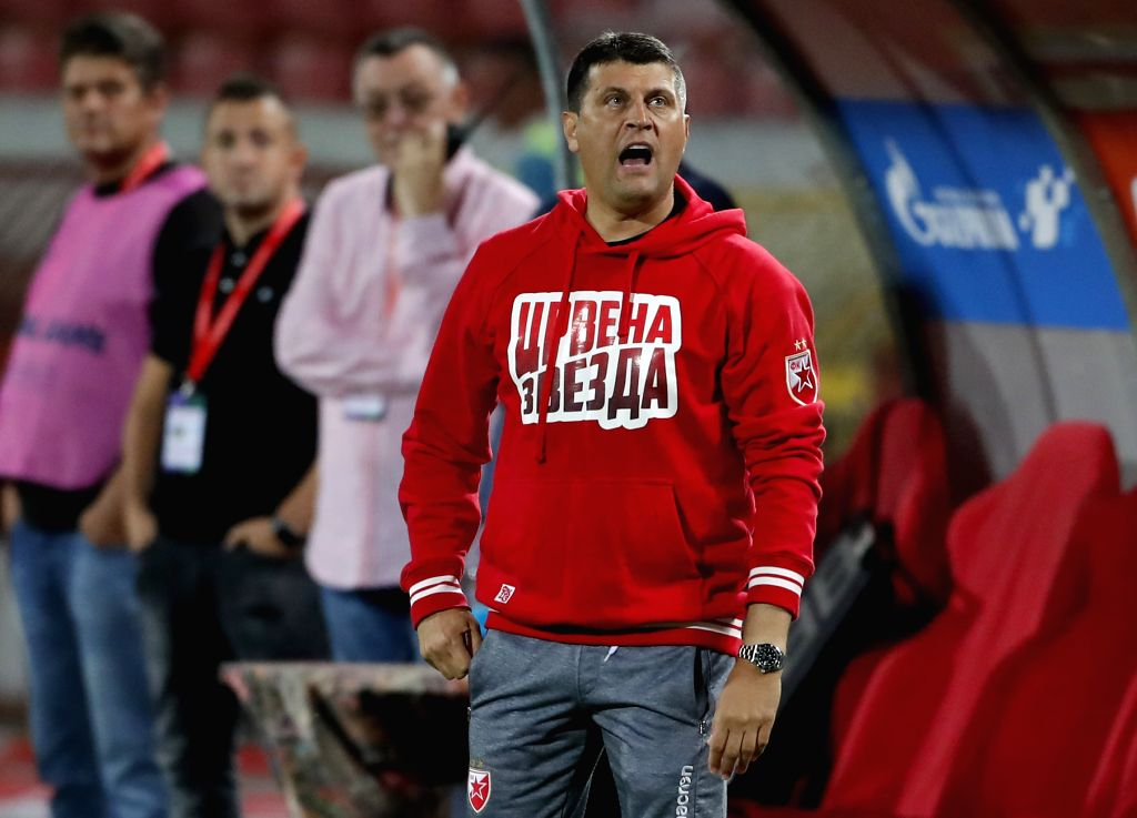 BELGRADE, July 17, 2019 - Crvena Zvezda's head coach Vladan Milojevic reacts during UEFA Champions League first qualifying round football match in Belgrade, Serbia on July 16, 2019. Crvena Zvezda won ...