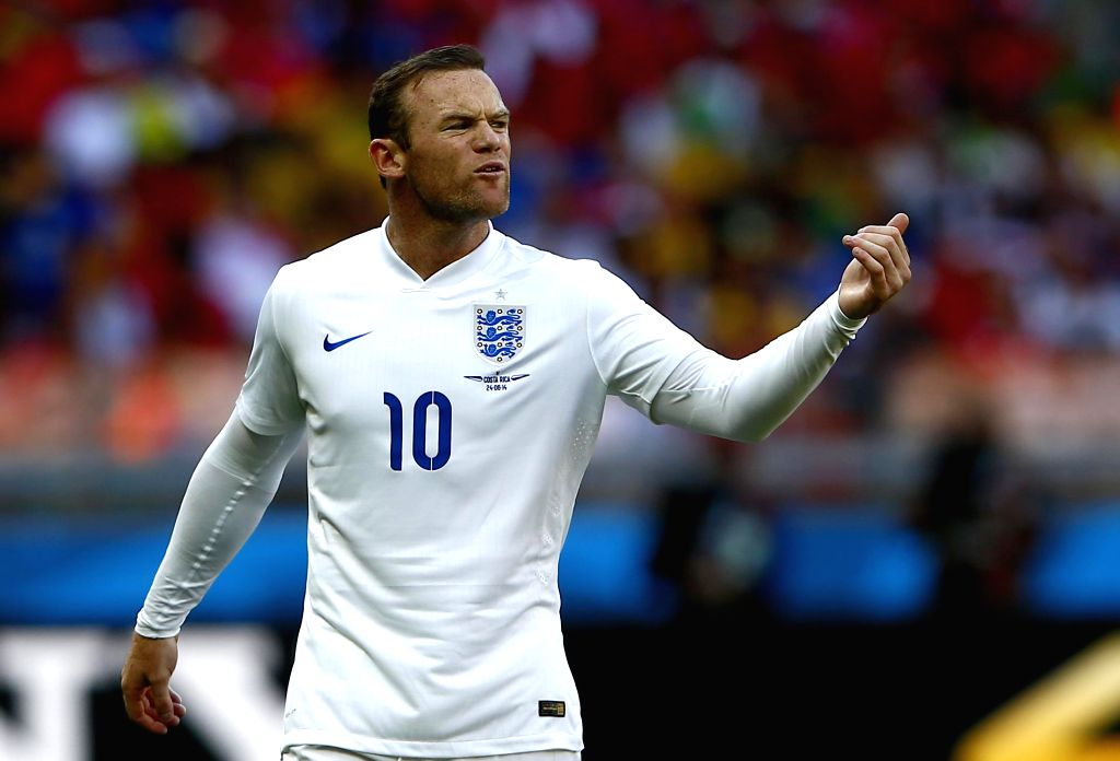 England's Wayne Rooney reacts during a Group D match between Costa Rica and England of 2014 FIFA World Cup at the Estadio Mineirao Stadium in Belo Horizonte, ...