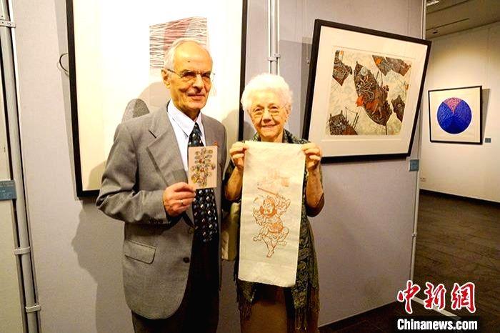 "Belt and Road"" international print painting exchange exhibition held."