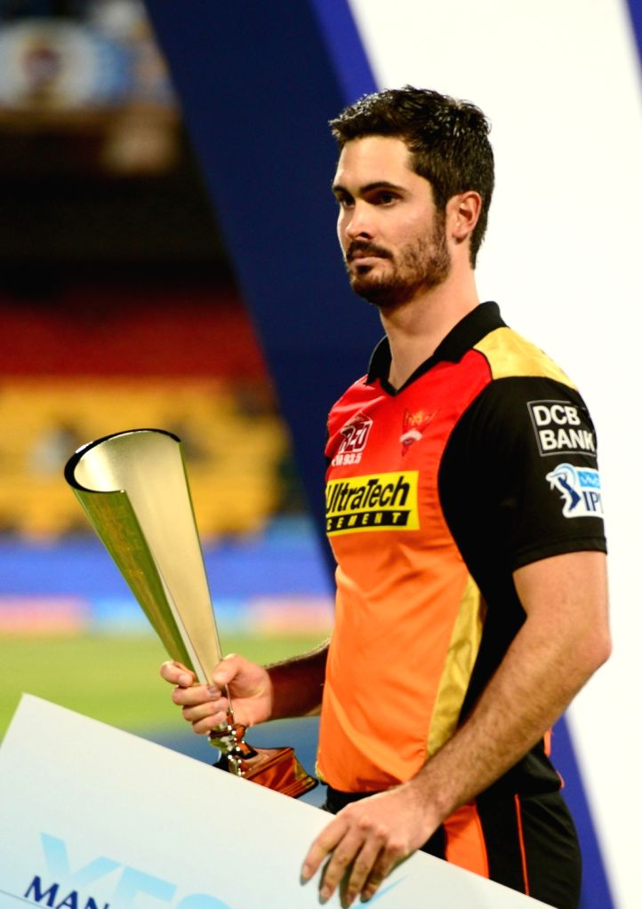 Ben Cutting during the presentation ceremony organised after the final match of IPL 2016 at M Chinnaswamy Stadium in Bengaluru, on May 29, 2016.