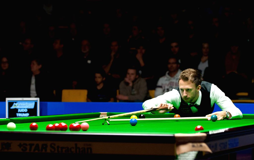 Judd Trump of Great Britain competes during his semifinal match against Xiao Guodong of China at the 2014 Australian Goldfields Snooker Open in Bendigo, Australia, ..