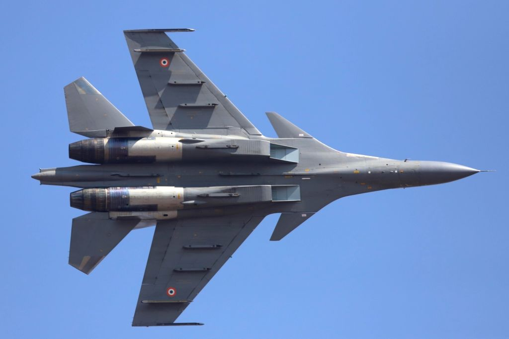 "Bengaluru: A Rafale fighter aircraft during ""Aero India 2019"" - air show at Yelahanka Air Force Station, in Bengaluru, on Feb 20, 2019. (Photo: IANS)"