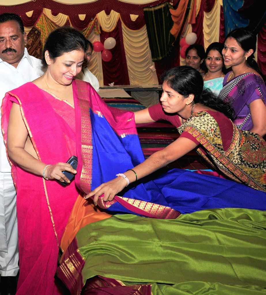 Actress Bhavana at the inauguration of  Mysore Silk Saree Exhibition cum Sale in Bengaluru, on March 13, 2015.