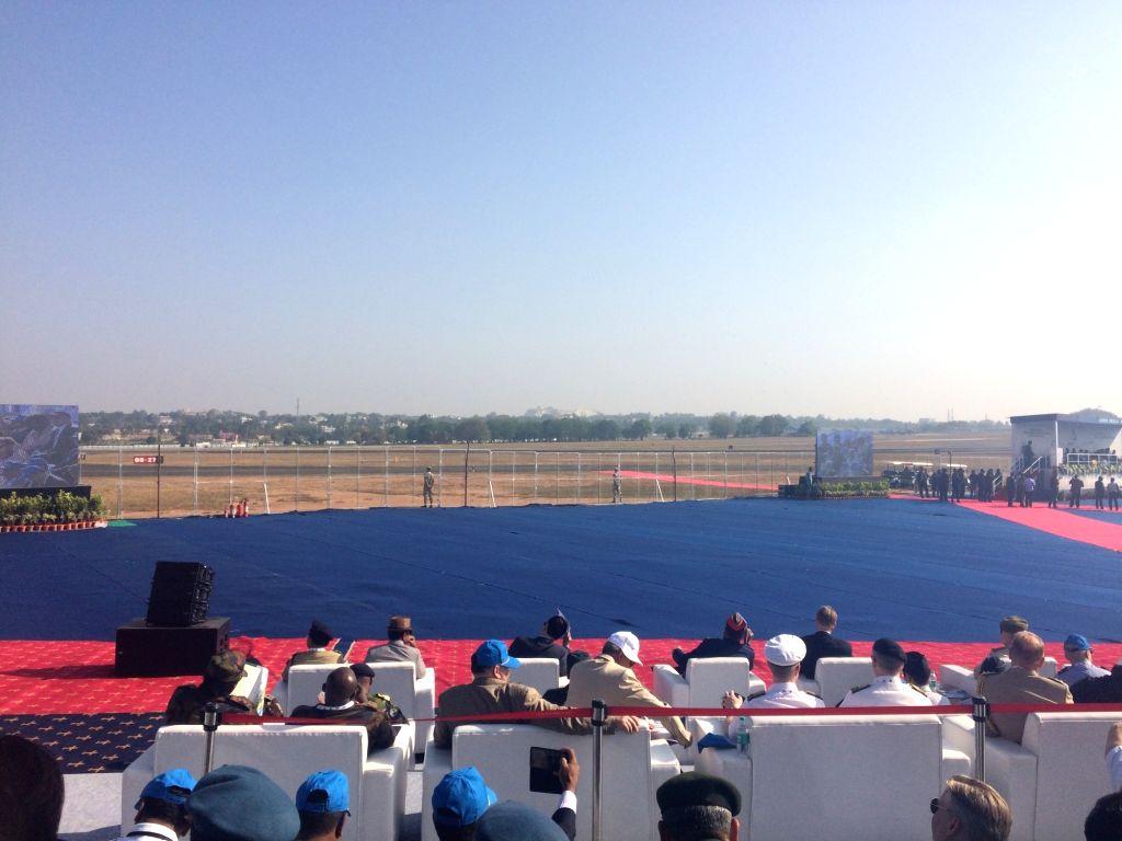 Bengaluru: Aero India 2019 - air show underway at Yelahanka Air Force Station, in Bengaluru, on Feb 20, 2019. (Photo: IANS)