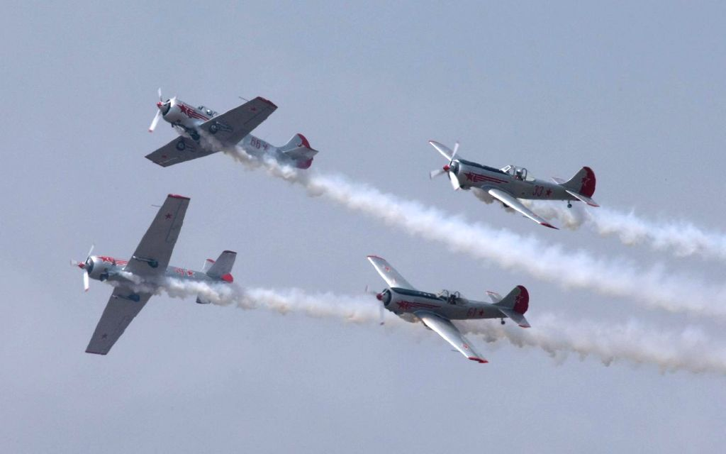 Aircraft flies in Bengaluru skies during the rehearsal for the Aero India show 2015 at Yelhanaka Airforce Station on Feb 16, 2015.