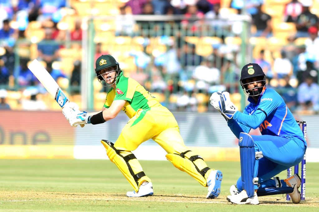 Bengaluru: Australia's Steven Smith in action during the third and final ODI match between India and Australia, at M. Chinnaswamy Stadium in Bengaluru on Jan 19, 2020. (Photo: IANS)