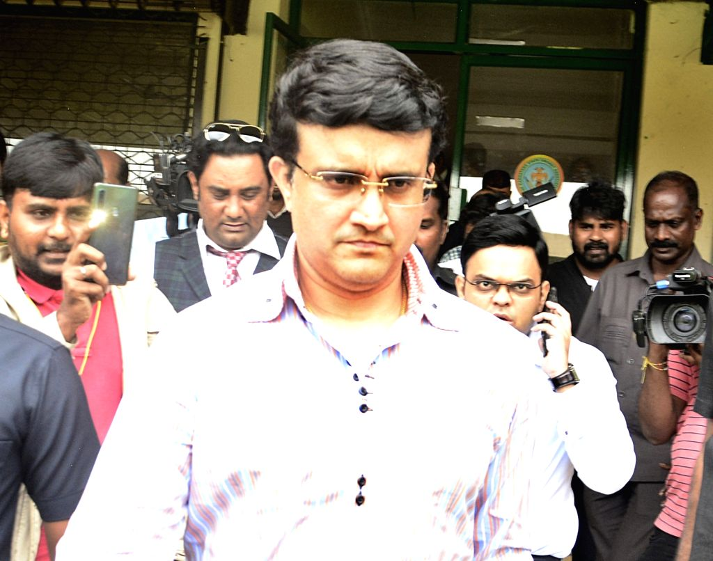Bengaluru: BCCI President Sourav Ganguly arrives to meet National Cricket Academy (NCA) Head Rahul Dravid, in Bengaluru on Oct 30, 2019. (Photo: IANS) - Sourav Ganguly and Rahul Dravid