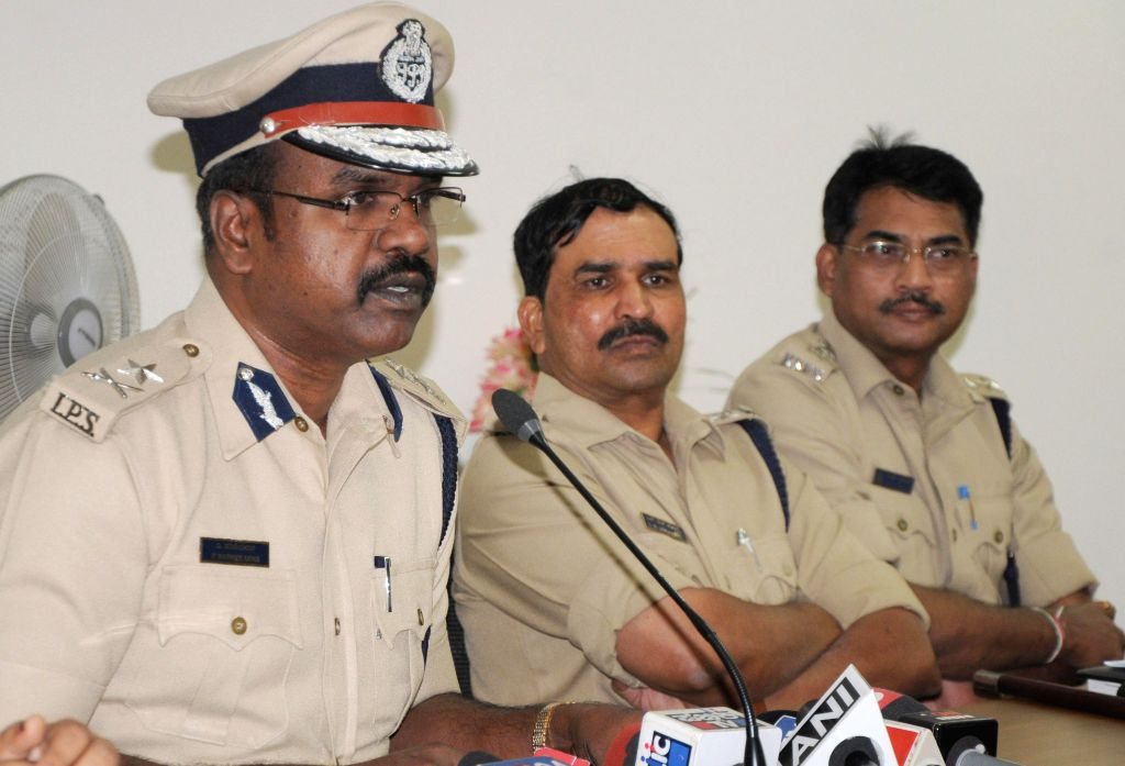 Bengaluru Additional Commissioner of Police P Harishekaran addresses a press conference regarding the arrest of the contract killers at his office, in Bengaluru on March 11, 2015. Also ...