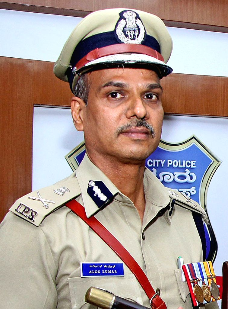 Bengaluru: Bengaluru City Police Commissioner Alok Kumar takes charge at Police Commissioner's Office in Bengaluru on June 17, 2019. (Photo: IANS)