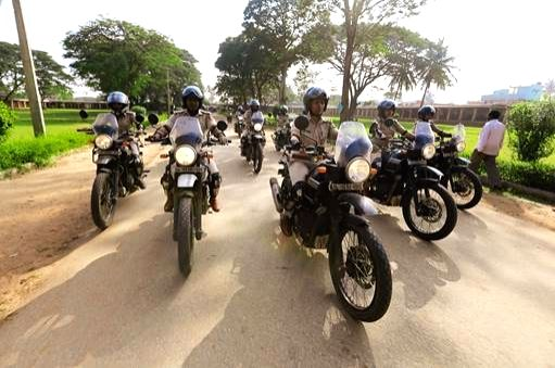 Bengaluru: Bengaluru police formed an all women police motorcycle brigade 'We for Women' aimed at making the city a safe place for women and children. The all women bullet riding police brigade undertook a ride to Nandi Hill near Bengaluru, joined by - Commissioner Bhaskar Rao