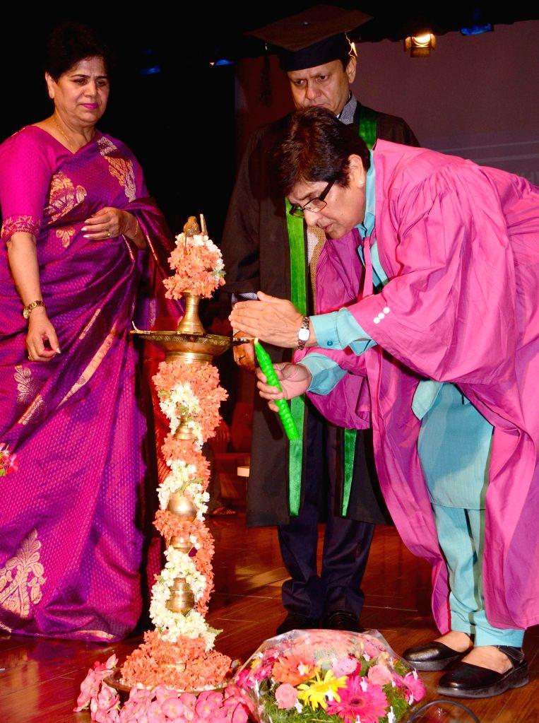 Bharatiya Janata Party (BJP) leader Kiran Bedi during the annual graduation day of IB DP students of Greenwood, in Bengaluru on April 18, 2015.