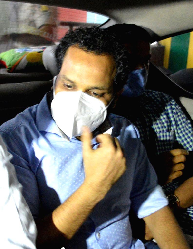 Bengaluru: Bineesh Kodiyeri, the son of Kerala's Communist Party of India (Marxist) secretary Kodiyeri Balakrishnan, taken into custody by the Enforcement Directorate in connection with a narcotics case, in Bengaluru on Oct 29, 2020. (Photo: IANS)