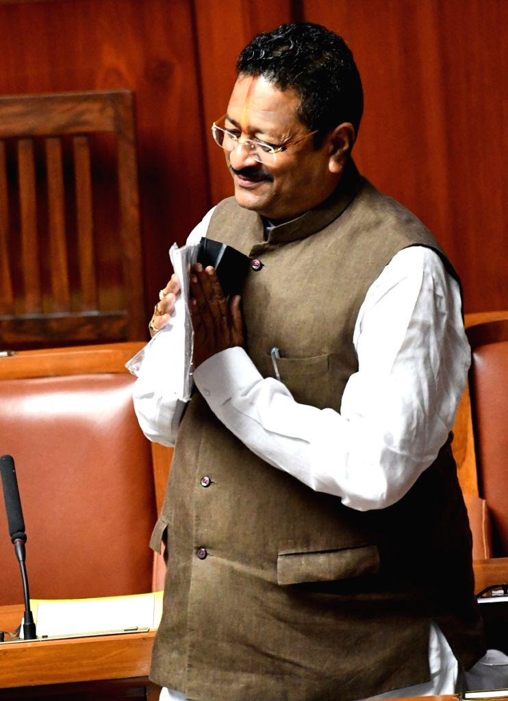 Bengaluru: BJP MLA Basanagouda Patil Yatnal during the Budget Session of the Karnataka Assembly, in Bengaluru on March 3, 2020. (Photo: IANS) - Basanagouda Patil Yatnal