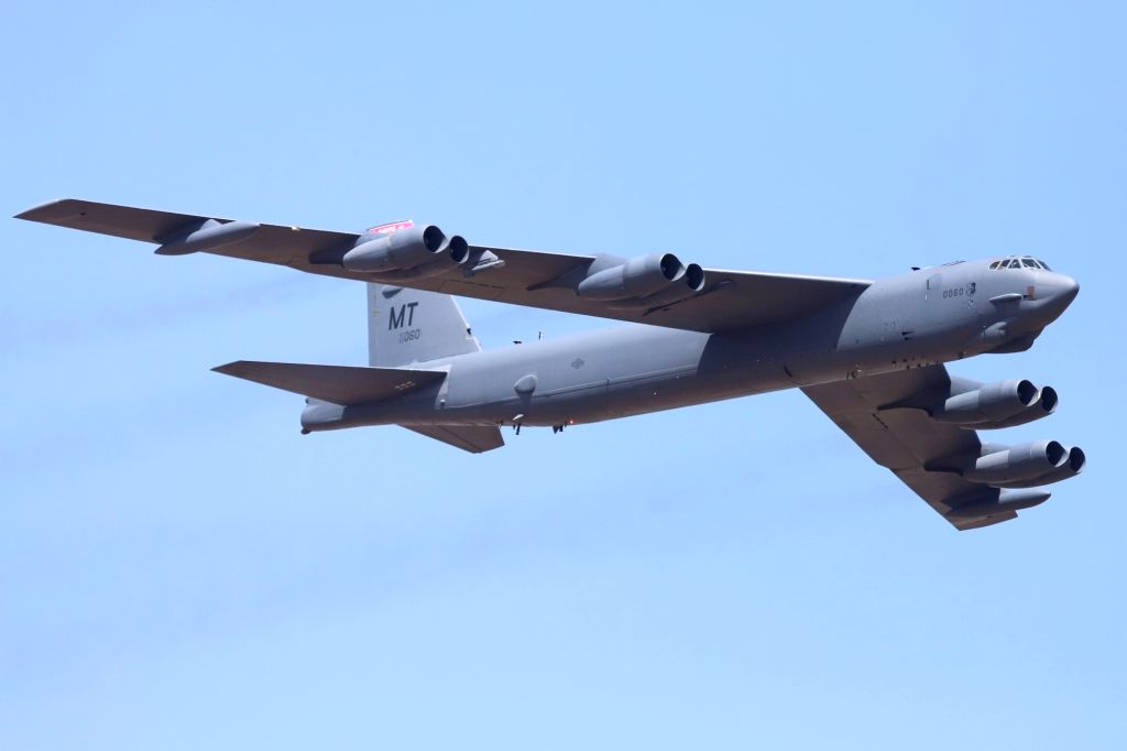 "Bengaluru: Boeing B-52 Stratofortress aircraft during ""Aero India 2019"" - air show at Yelahanka Air Force Station, in Bengaluru, on Feb 20, 2019. (Photo: IANS)"