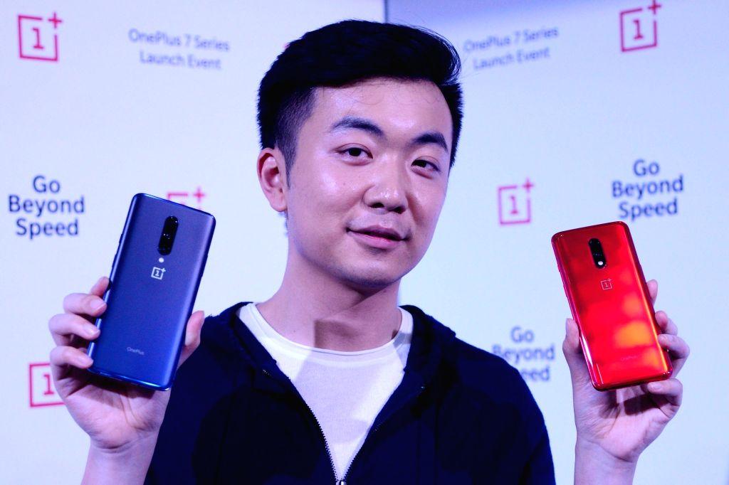 Bengaluru:  Carl Pei, Co-founder OnePlus at the launch of OnePlus 7 series phone at Bengaluru International Exhibition Centre, in Bengaluru on May 14, 2019. ( Photo: IANS)