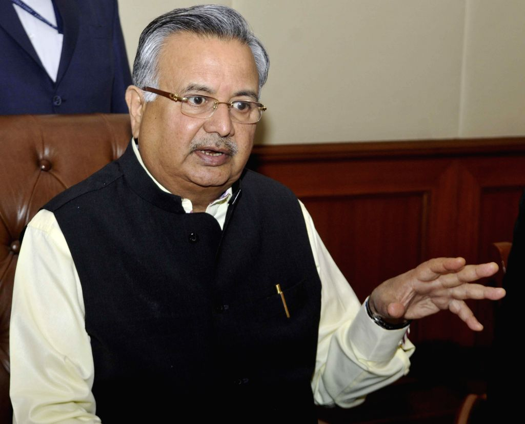Chattisgarh Chief Minister Raman Singh during a press conference in Bengaluru on Feb. 3, 2015. - Raman Singh