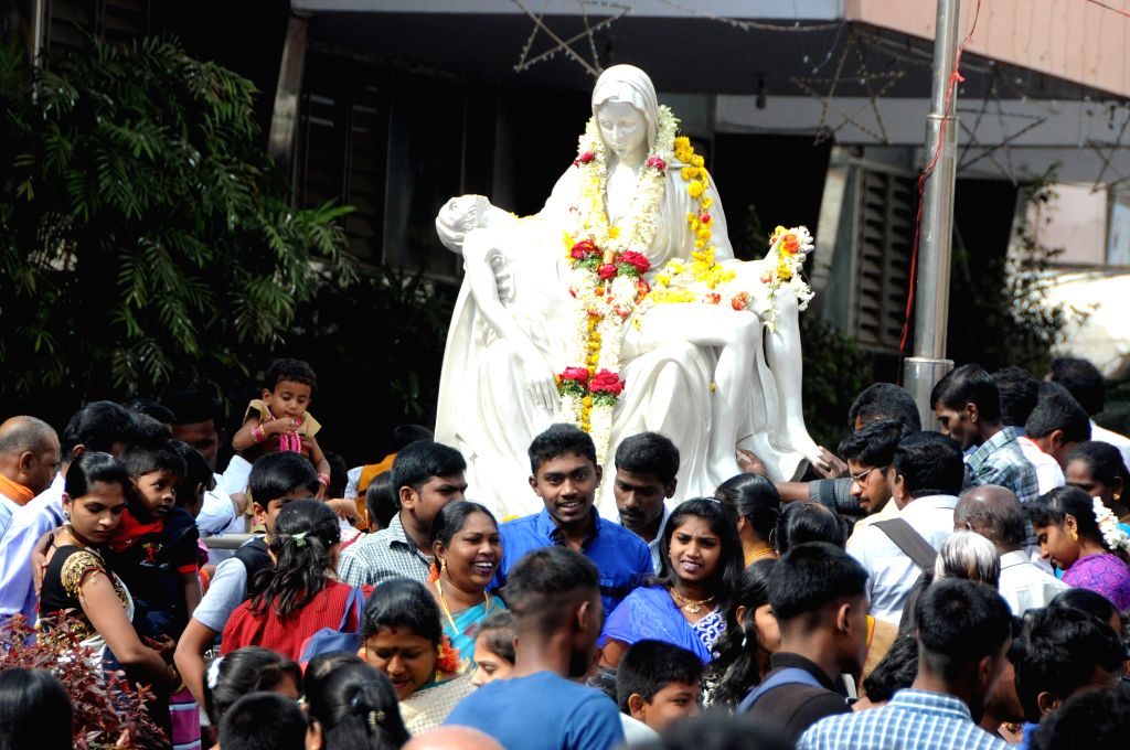 Christmas celebrations at St Basilica Church in Bengaluru, on Dec 25, 2014.