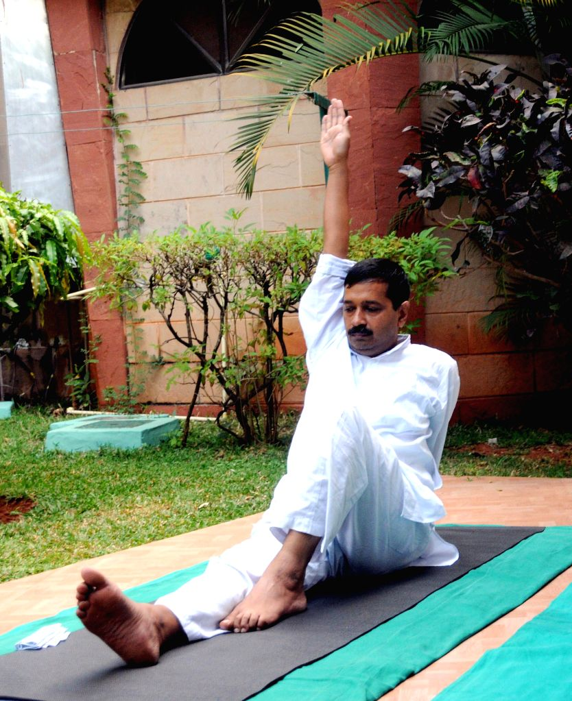 Delhi Chief Minister Arvind Kejriwal during his treatment at the Jindal Naturecure Institute in Bengaluru, on March 12, 2015. - Arvind Kejriwal