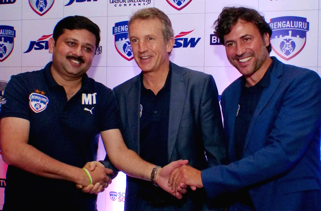 Bengaluru FC's new Manager Albert Roca during a press conference in Bengaluru on July 28, 2016.