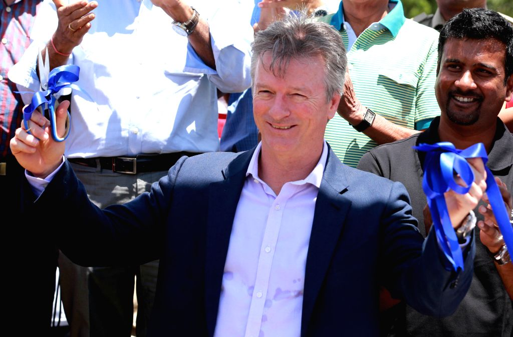 Bengaluru: Former Australian cricketer Steve Waugh during the inauguration of a sports arena on the outskirts of Bengaluru on Sep 13, 2015. (Photo: IANS)