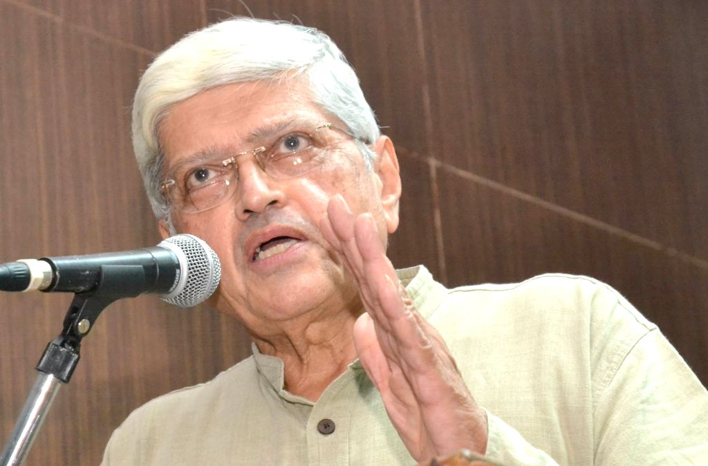 Former West Bengal Governor Gopalkrishna Gandhi addresses during the 35th J P Memorial Lecture on ``A State of Emergency``  organised by Peoples Union for Civil Liberties at St Joseph ...
