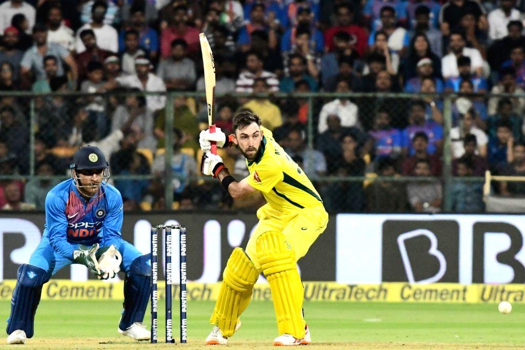 Bengaluru: Glenn Maxwell of Australia in action during the second T20I match between India and Australia at M Chinnaswamy Stadium in Bengaluru on Feb 27, 2019. (Photo: IANS)