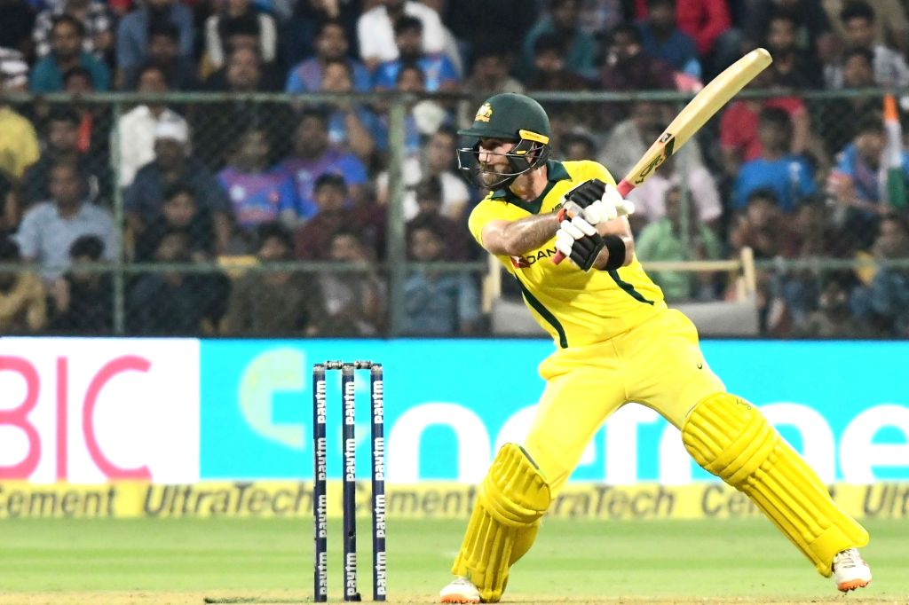 Bengaluru: Glenn Maxwell of Australia in action during the second T20I match between India and Australia at M Chinnaswamy Stadium in Bengaluru on Feb 27, 2019. (Photo: IANS)