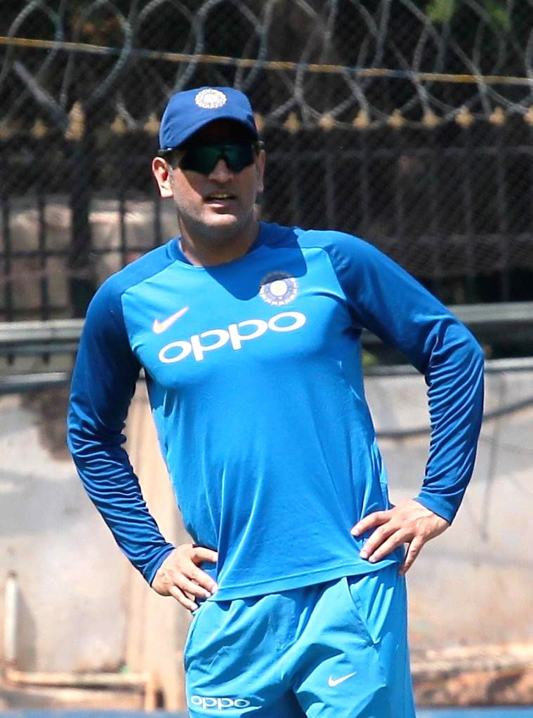 Bengaluru: India's MS Dhoni during a practice session ahead of the 2nd T20I match against Australia M Chinnaswamy Stadium in Bengaluru, on Feb 26, 2019. (Photo: IANS) - MS Dhoni