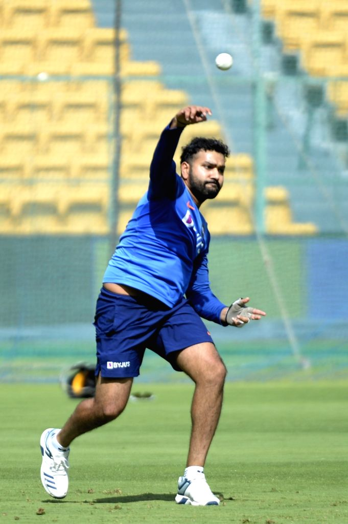 Bengaluru: India's Rohit Sharma in action during a practice session ahead of the final T20I match against South Africa, at M. Chinnaswamy Stadium in Bengaluru on Sep 21, 2019. (Photo: IANS) - Rohit Sharma