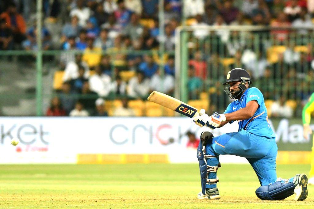 Bengaluru: India's Rohit Sharma in action during the third and final ODI match between India and Australia, at M. Chinnaswamy Stadium in Bengaluru on Jan 19, 2020. (Photo: IANS) - Rohit Sharma