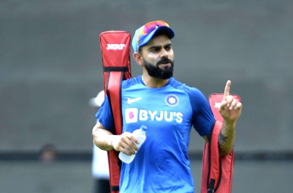 Bengaluru: Indian skipper Virat Kohli during a practice session ahead of the final T20I match against South Africa, at M. Chinnaswamy Stadium in Bengaluru on Sep 21, 2019. (Photo: IANS) - Virat Kohli