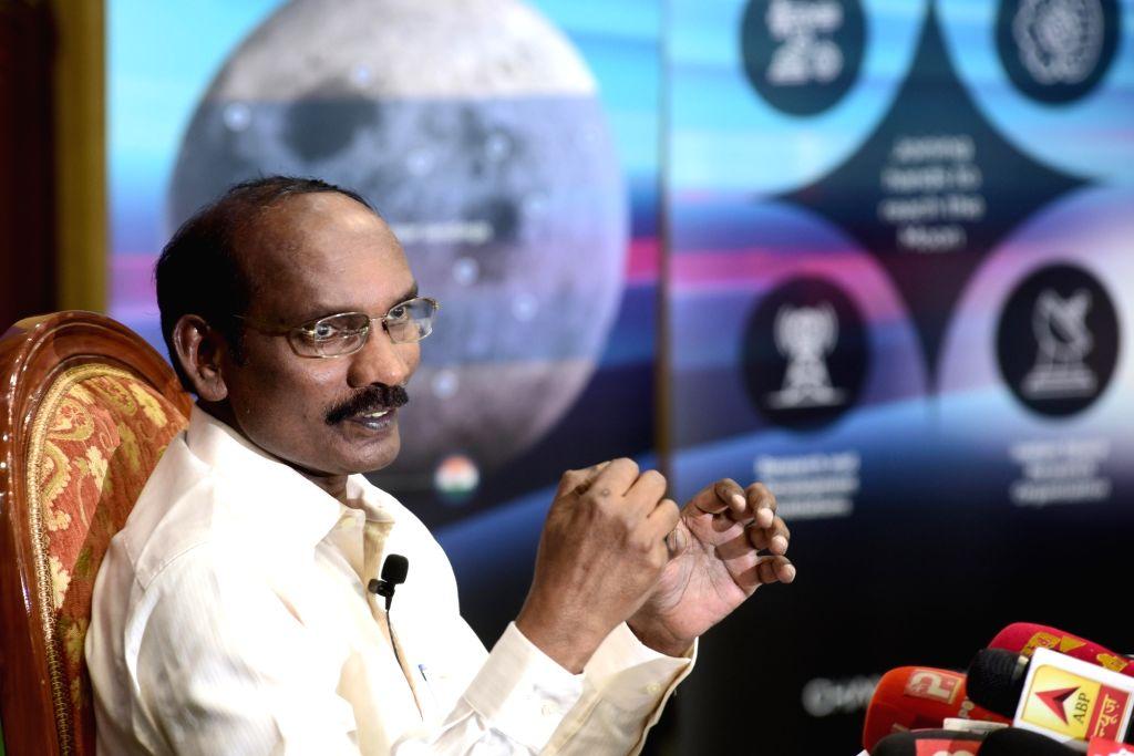 Bengaluru: Indian Space Research Organisation (ISRO) Chairman K. Sivan addresses a press conference, at Antariksh Bhavan in Bengaluru on June 12, 2019. (Photo: IANS)