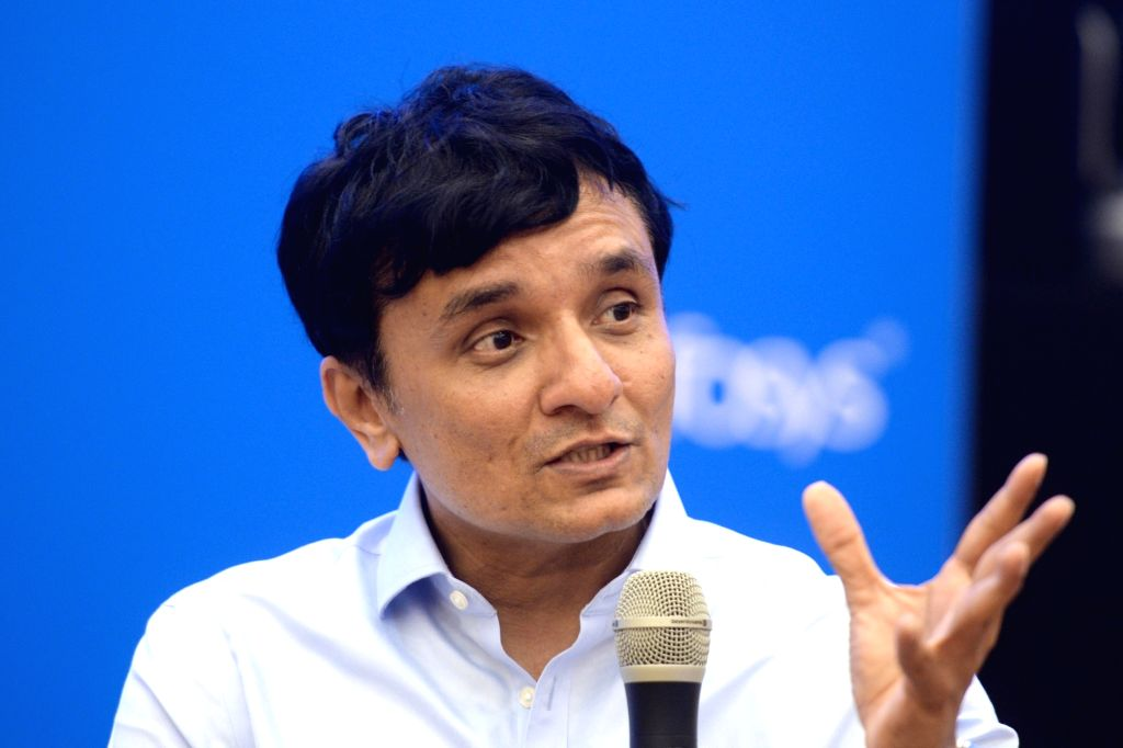 :Bengaluru: Infosys CFO MD Ranganath during a press conference organised to announce company's Q2 results in Bengaluru on 16, 2018. (Photo: IANS).