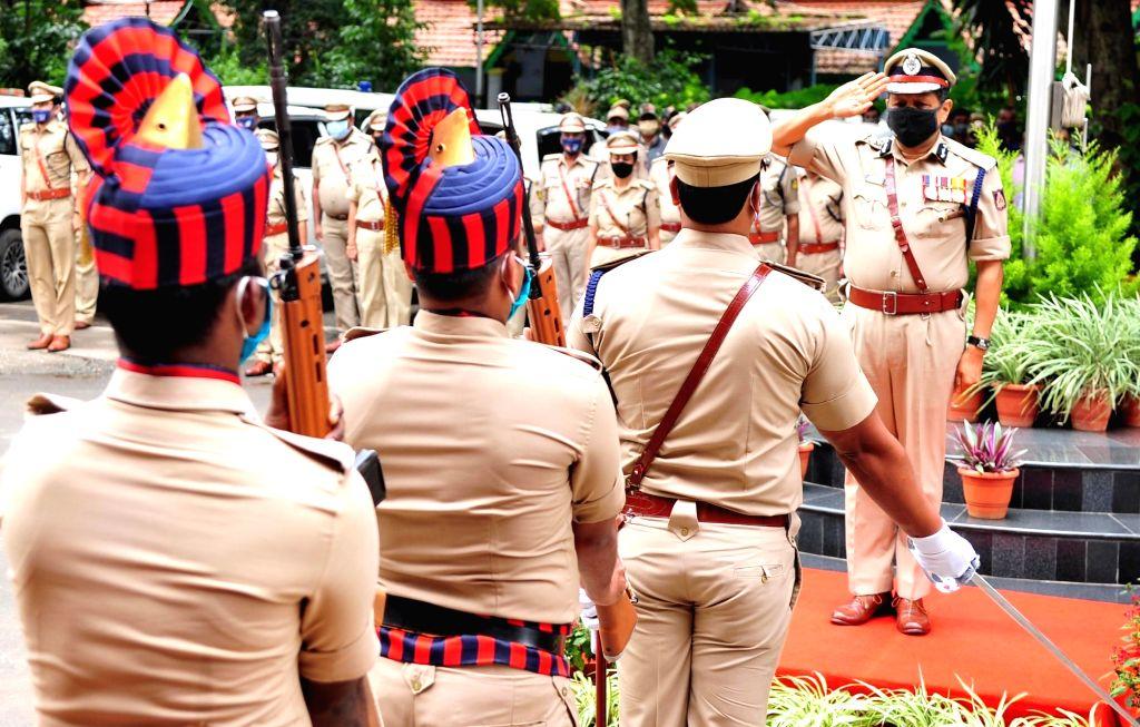 Bengaluru : Kamal Panth takes charge as the new Bengaluru Police Commissioner replacing Bhaskar Rao, outgoing police commissioner at Police Commissioner Office, in Bengaluru on Aug 1, 2020. - Bhaskar Rao