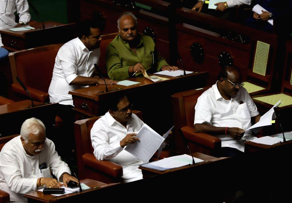 Bengaluru: Karnataka Assembly session underway in Bengaluru on July 12, 2019. (Photo: IANS)