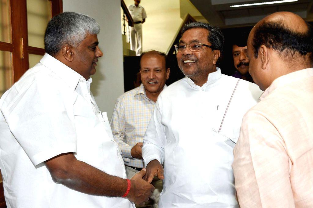 Karnataka Chief Minister Siddaramaiah arrives to attend the winter session of Karnataka assembly at the Suvarna Soudha in Bengaluru on Dec 9, 2014. - Siddaramaiah