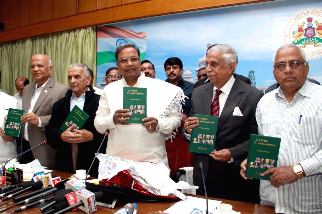 Karnataka Chief Minister Siddaramaiah at the launch of a book in Bengaluru, on Jan 20, 2015. - Siddaramaiah