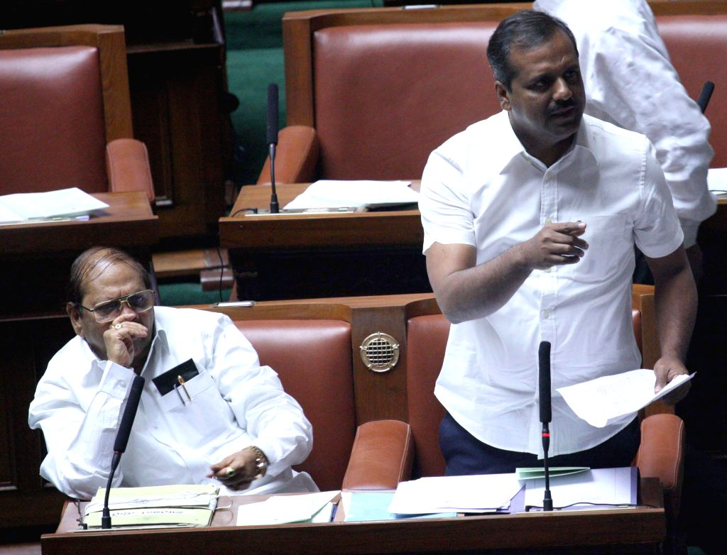 Karnataka Health and Family Minister U T Khadar during Karnataka Assembly Session at Vidhan Soudha, in Bengaluru, on Feb 9, 2015. - U T Khadar