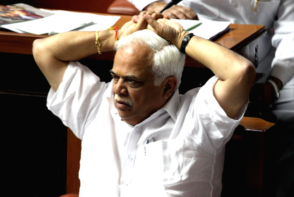 Karnataka Tourism Minister R V Deshpande during a joint Karnataka Legislative Assembly at Vidhan Soudha, in Bengaluru on Feb. 3, 2015. - R V Deshpande