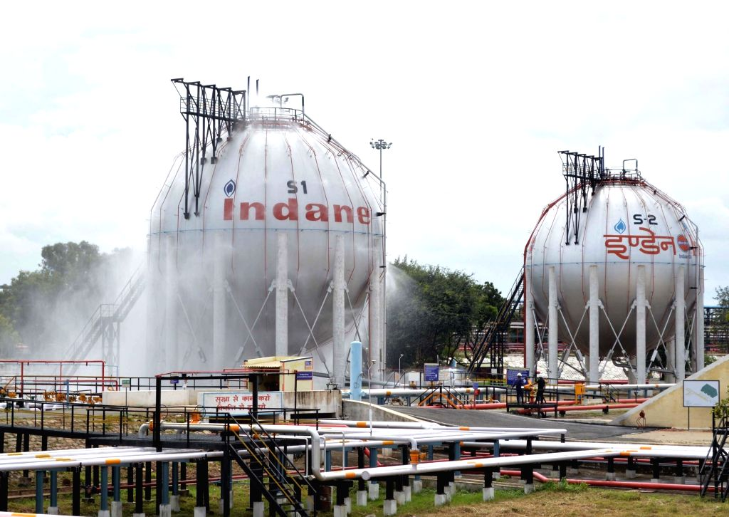 Bengaluru: LPG bottling plant of the Indian Oil Corporation where Emergency response drill was conducted, at Devanagonthi in Bengaluru on Oct 22, 2019. (Photo: IANS)