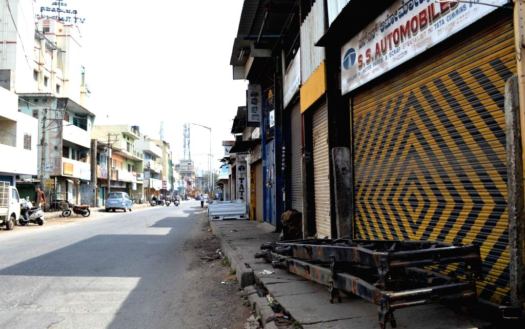 Bengaluru, May 24 (IANS) A total lockdown on Sunday turned Karnataka into a ghost state, with an eerie silence and uneasy calm prevailing across its cities and towns, even as hundreds of policemen kept a close vigil.