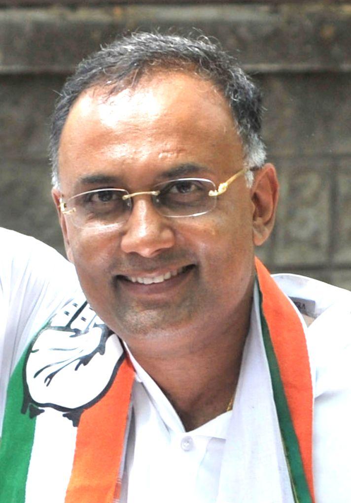 Bengaluru: Newly appointed Karnataka Congress chief Dinesh Gundu Rao. (File Photo: IANS) - Dinesh Gundu Rao