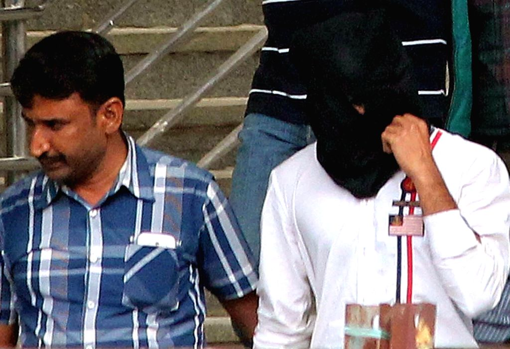 One of the three suspected Indian Mujahideen (IM) operative who were arrested for their involvement in the Dec 28 Church Street blast, in Bengaluru on Jan 9, 2015.