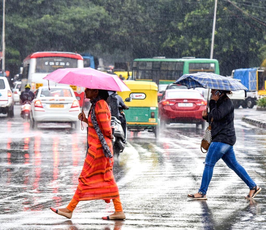 Bengaluru: Rains lash Bengaluru on Oct 25, 2019. (Photo: IANS)