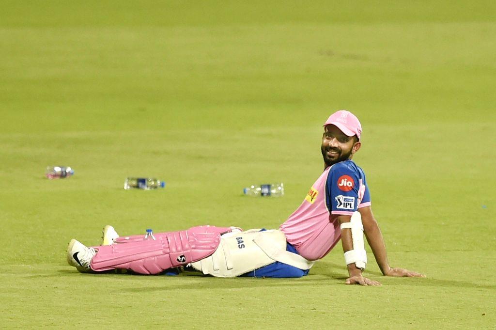 Bengaluru: Rajasthan Royals' Ajinkya Rahane during a practice session at Chinnaswamy Stadium, in Bengaluru, on April 29, 2019. (Photo: IANS)
