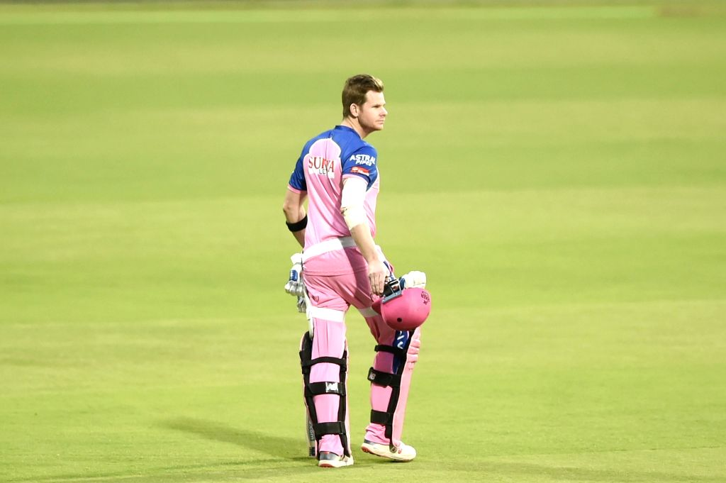 Bengaluru: Rajasthan Royals' skipper Steve Smith during a practice session at Chinnaswamy Stadium, in Bengaluru, on April 29, 2019. (Photo: IANS)